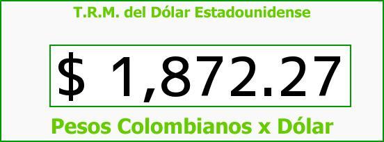 T.R.M. del Dólar para hoy Viernes 18 de Julio de 2014