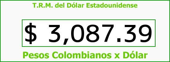 T.R.M. del Dólar para hoy Viernes 18 de Marzo de 2016