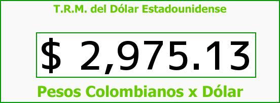 T.R.M. del Dólar para hoy Viernes 18 de Septiembre de 2015