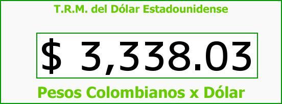 T.R.M. del Dólar para hoy Viernes 19 de Febrero de 2016