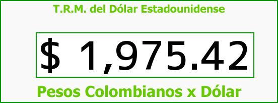 T.R.M. del Dólar para hoy Viernes 19 de Septiembre de 2014