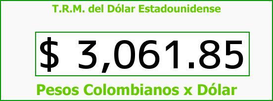 T.R.M. del Dólar para hoy Viernes 2 de Octubre de 2015