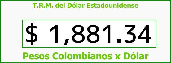 T.R.M. del Dólar para hoy Viernes 20 de Junio de 2014