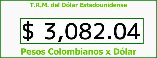 T.R.M. del Dólar para hoy Viernes 20 de Noviembre de 2015