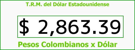 T.R.M. del Dólar para hoy Viernes 21 de Abril de 2017