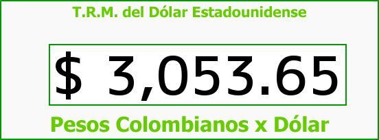 T.R.M. del Dólar para hoy Viernes 21 de Agosto de 2015