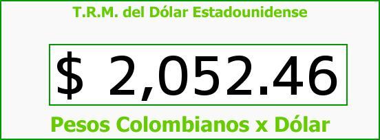 T.R.M. del Dólar para hoy Viernes 21 de Febrero de 2014