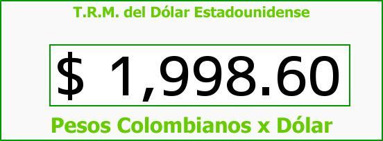 T.R.M. del Dólar para hoy Viernes 21 de Marzo de 2014