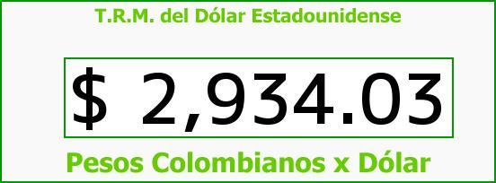 T.R.M. del Dólar para hoy Viernes 21 de Octubre de 2016