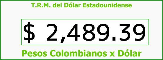 T.R.M. del Dólar para hoy Viernes 22 de Mayo de 2015