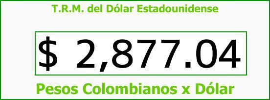 T.R.M. del Dólar para hoy Viernes 23 de Febrero de 2018