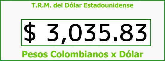 T.R.M. del Dólar para hoy Viernes 23 de Junio de 2017