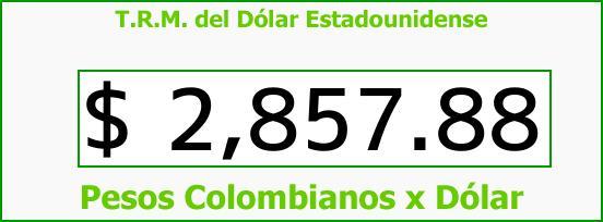 T.R.M. del Dólar para hoy Viernes 23 de Marzo de 2018
