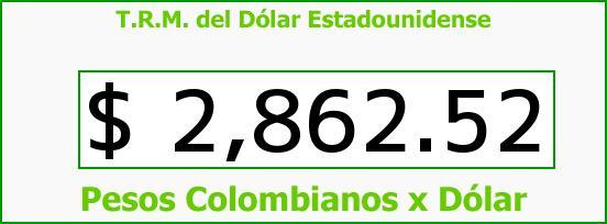 T.R.M. del Dólar para hoy Viernes 23 de Septiembre de 2016