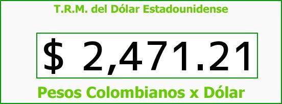 T.R.M. del Dólar para hoy Viernes 24 de Abril de 2015