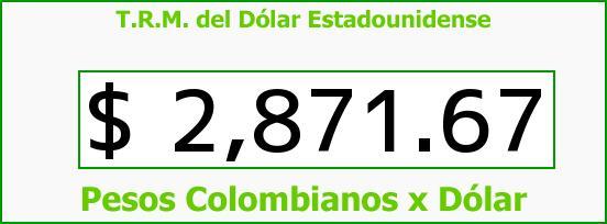 T.R.M. del Dólar para hoy Viernes 24 de Febrero de 2017
