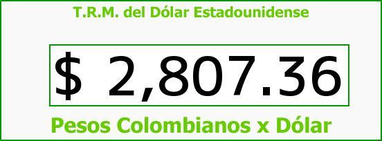 T.R.M. del Dólar para hoy Viernes 24 de Julio de 2015