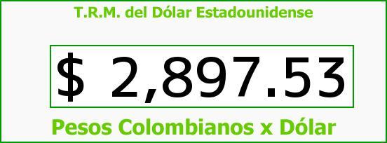 T.R.M. del Dólar para hoy Viernes 24 de Junio de 2016