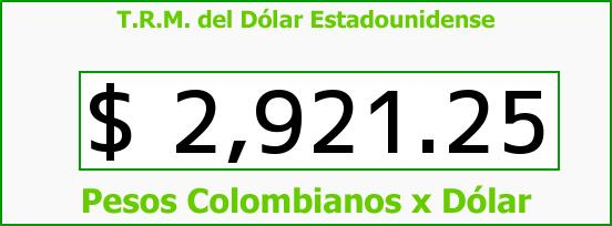 T.R.M. del Dólar para hoy Viernes 24 de Marzo de 2017