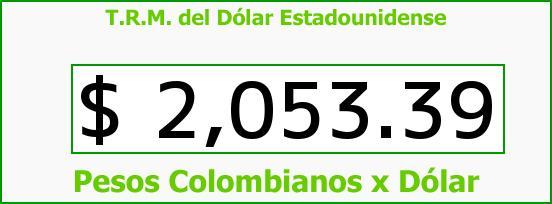 T.R.M. del Dólar para hoy Viernes 24 de Octubre de 2014