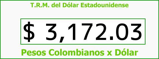 T.R.M. del Dólar para hoy Viernes 25 de Diciembre de 2015