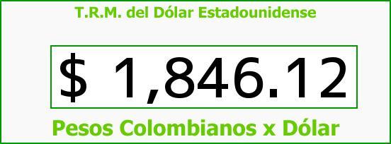 T.R.M. del Dólar para hoy Viernes 25 de Julio de 2014