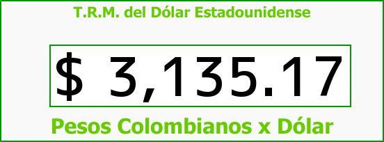 T.R.M. del Dólar para hoy Viernes 25 de Septiembre de 2015