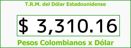 T.R.M. del Dólar para hoy Viernes 26 de Febrero de 2016