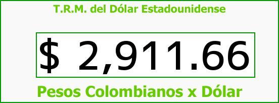 T.R.M. del Dólar para hoy Viernes 26 de Mayo de 2017