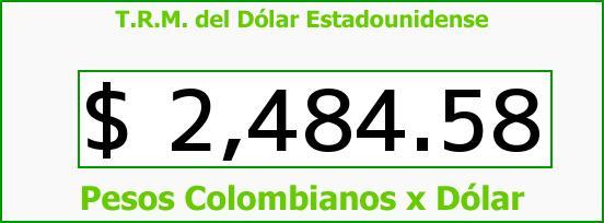 T.R.M. del Dólar para hoy Viernes 27 de Febrero de 2015