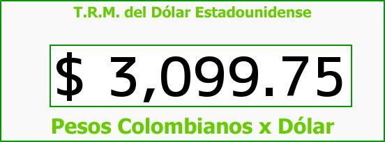 T.R.M. del Dólar para hoy Viernes 27 de Noviembre de 2015