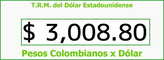 T.R.M. del Dólar para hoy Viernes 27 de Octubre de 2017