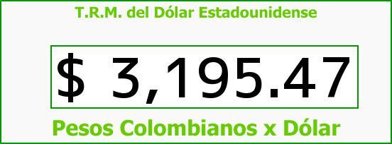 T.R.M. del Dólar para hoy Viernes 28 de Agosto de 2015