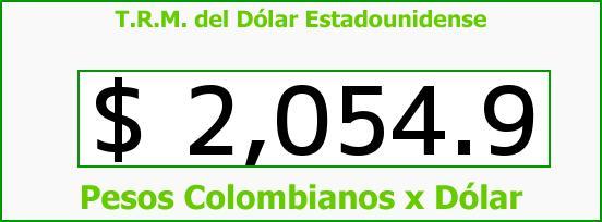 T.R.M. del Dólar para hoy Viernes 28 de Febrero de 2014