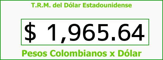 T.R.M. del Dólar para hoy Viernes 28 de Marzo de 2014