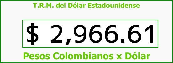T.R.M. del Dólar para hoy Viernes 28 de Octubre de 2016