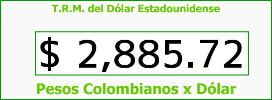 T.R.M. del Dólar para hoy Viernes 29 de Abril de 2016