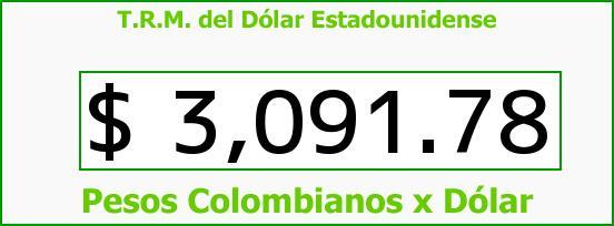 T.R.M. del Dólar para hoy Viernes 29 de Julio de 2016