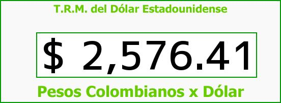 T.R.M. del Dólar para hoy Viernes 3 de Abril de 2015