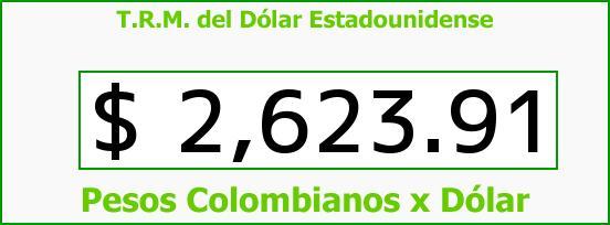 T.R.M. del Dólar para hoy Viernes 3 de Julio de 2015