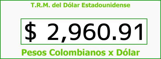 T.R.M. del Dólar para hoy Viernes 3 de Marzo de 2017