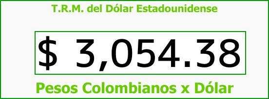 T.R.M. del Dólar para hoy Viernes 3 de Noviembre de 2017