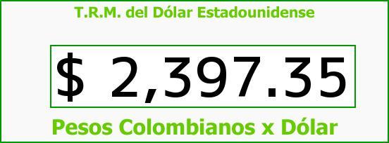 T.R.M. del Dólar para hoy Viernes 30 de Enero de 2015