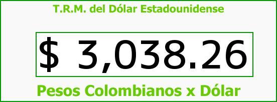 T.R.M. del Dólar para hoy Viernes 30 de Junio de 2017