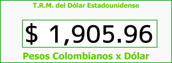 T.R.M. del Dólar para hoy Viernes 30 de Mayo de 2014
