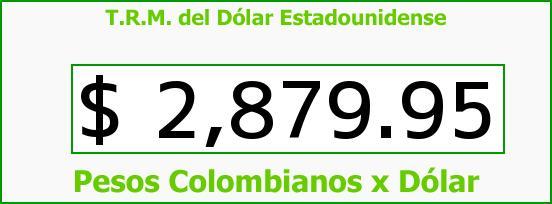 T.R.M. del Dólar para hoy Viernes 30 de Septiembre de 2016