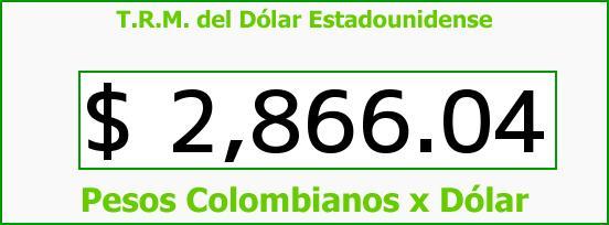 T.R.M. del Dólar para hoy Viernes 31 de Julio de 2015