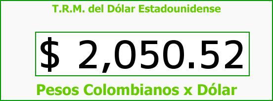 T.R.M. del Dólar para hoy Viernes 31 de Octubre de 2014