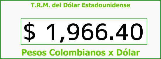 T.R.M. del Dólar para hoy Viernes 4 de Abril de 2014