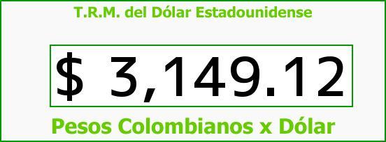 T.R.M. del Dólar para hoy Viernes 4 de Diciembre de 2015